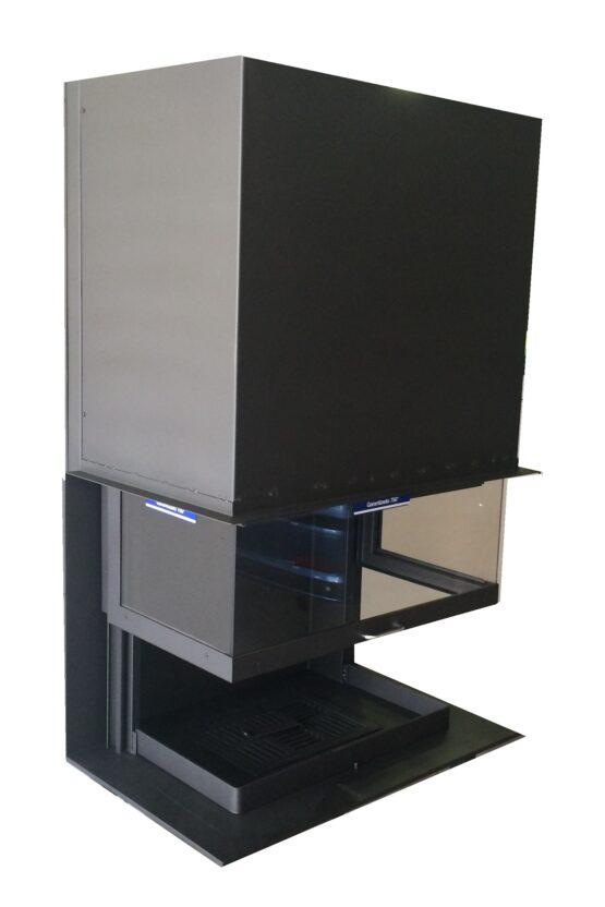 Chimenea guillotina 3 caras frontal