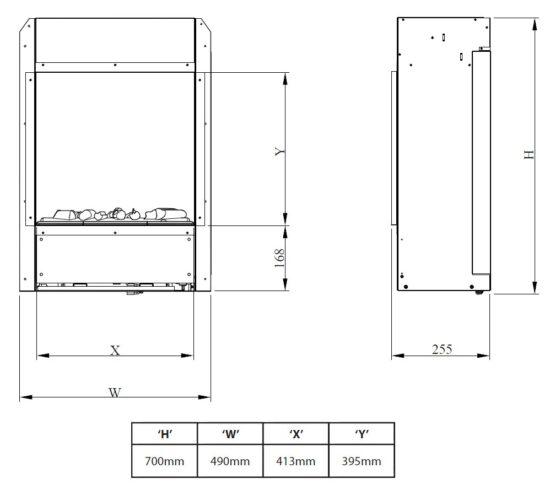 Opti-Myst 400H + Chasis calefactor 56H